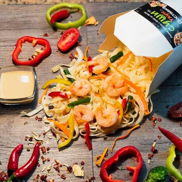 Вок «Морепродукты в сливочном соусе»